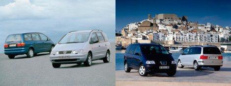 Volkswagen Sharan 1997 y Seat Alhambra 2000