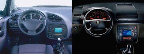 A la izquierda, el interior Ford, usado hasta 1999. A la derecha, el de VAG, instalado en todos los modelos posteriores.